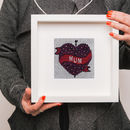Mum Heart Tattoo Knitted Artwork