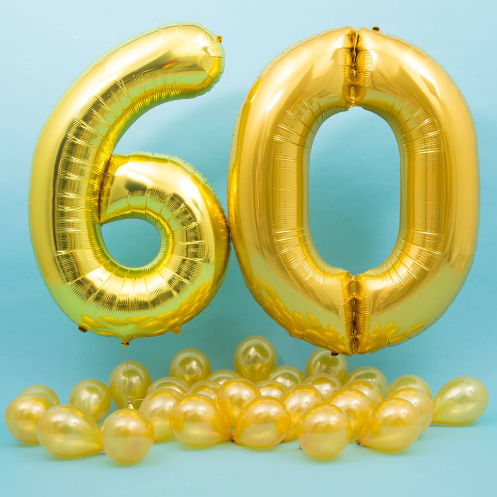 Happy 60th Birthday Balloons