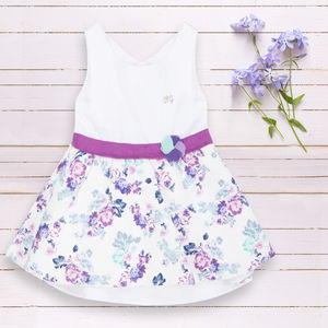 Baby Girls Flower Print Woven Dress - clothing