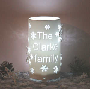 Personalised Snowflake LED Battery Operated Light - christmas lighting