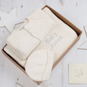 Unisex Baby Bubble Knitted Gift Box