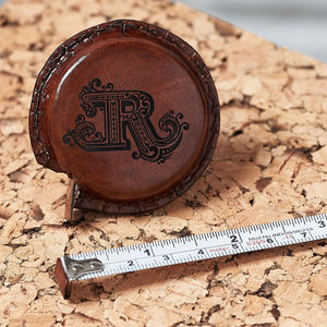 Personalised Leather Tape Measure - creative kits & experiences