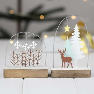 Snowy Forest And Stag Christmas Scenes - tree decorations
