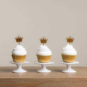 Crown Cupcake Decorations Set - table decorations