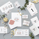 Cinema Wedding Stationery Sample Pack
