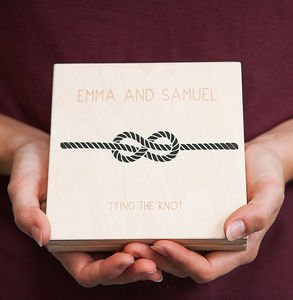 Personalised Infinity Love Knot Wedding Ring Box - wedding ring pillows
