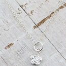 Personalised Mini Sterling Silver Flower Pendant