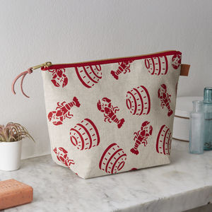 Lobster Pot Nautical Wash Bag