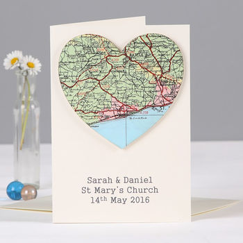wedding location map card