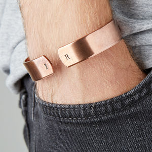 Chunky Copper Cuff For Men - personalised jewellery