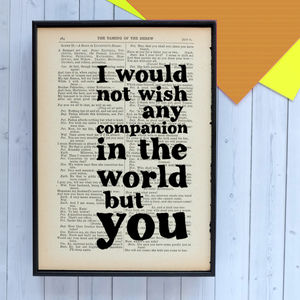 Wedding Shakespeare Print - gifts for couples