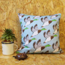 Flying Ducks Patterned Cushion