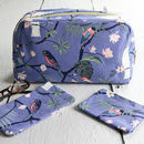 Botanical Birds Large Wash Bag