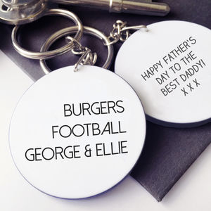 Personalised Dad's Favourite Things Keyring