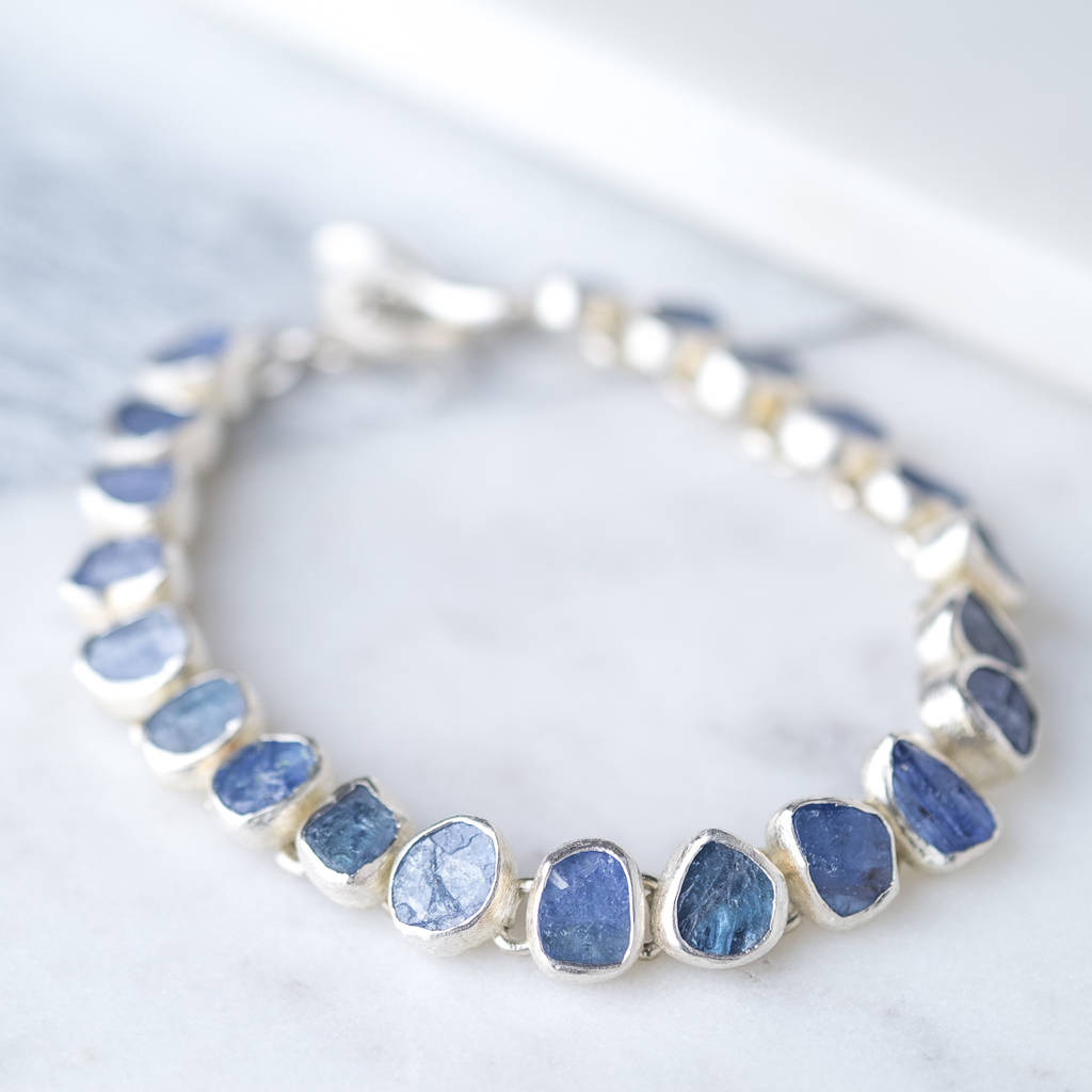 gold tennis tanzanite diamond round oval bracelet white product