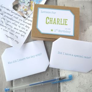 Personalised 1st Birthday Keepsake Letters