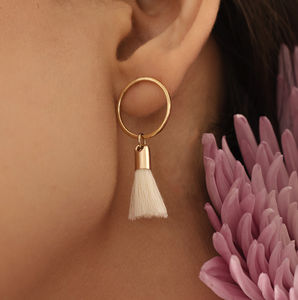 Solar Tassel Earrings - earrings