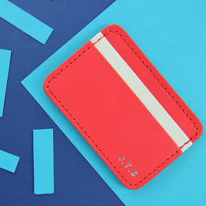 Personalised Card Holder - top leather accessories