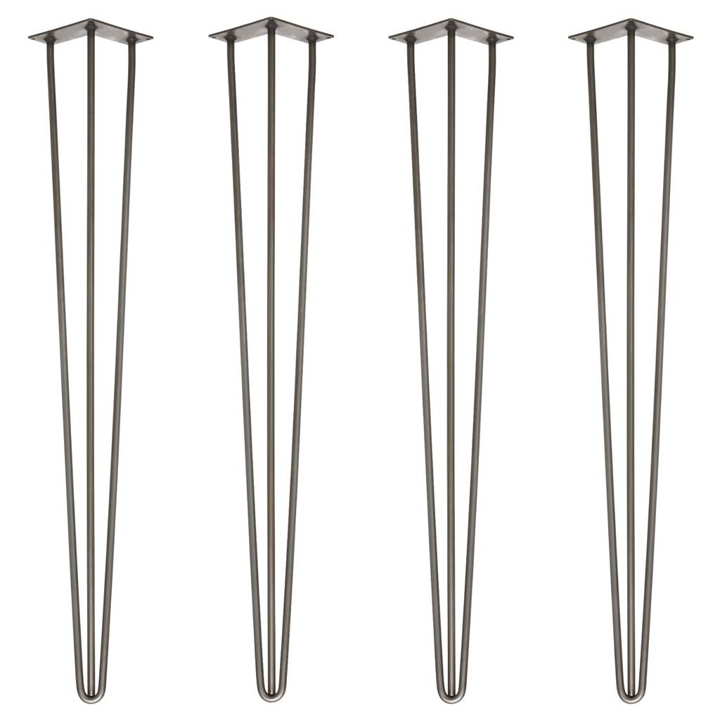 Set Of Four 86cm Bar Table Stool Legs By Wicked Hairpins