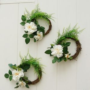 Rose And Fern Wedding Wreath - grecian wedding styling