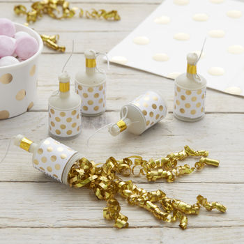 Gold Foiled Polka Dot Party Poppers Pick And Mix