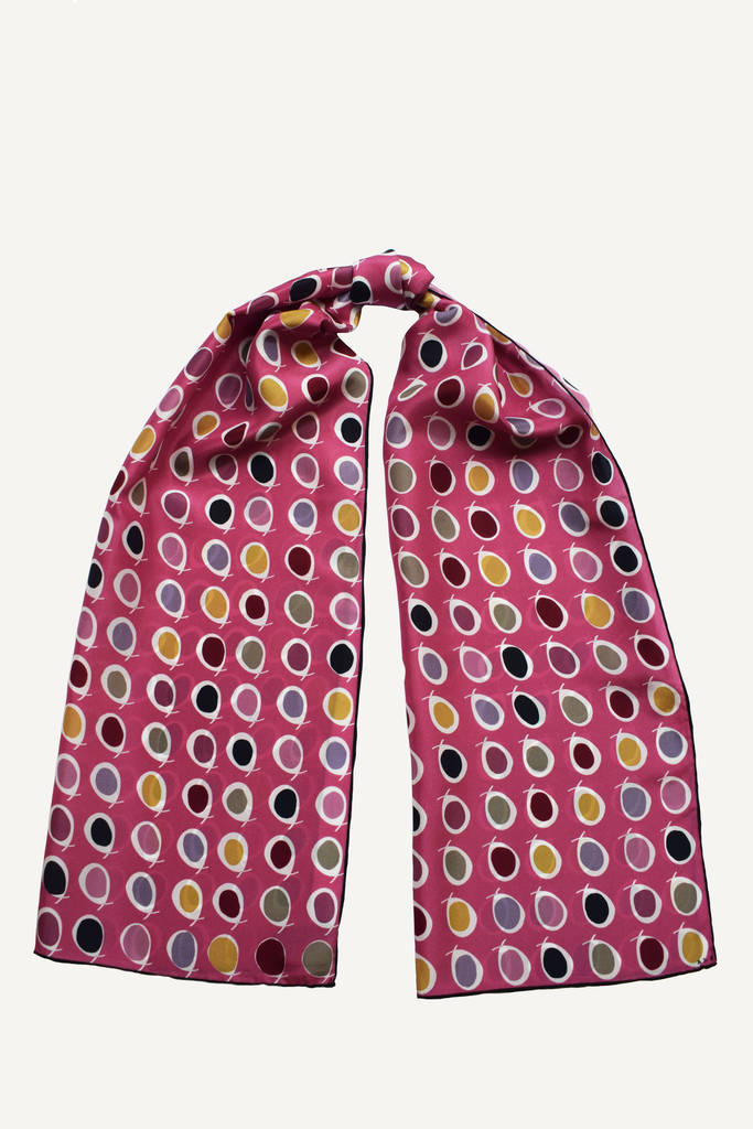 Dotty Silk Scarf
