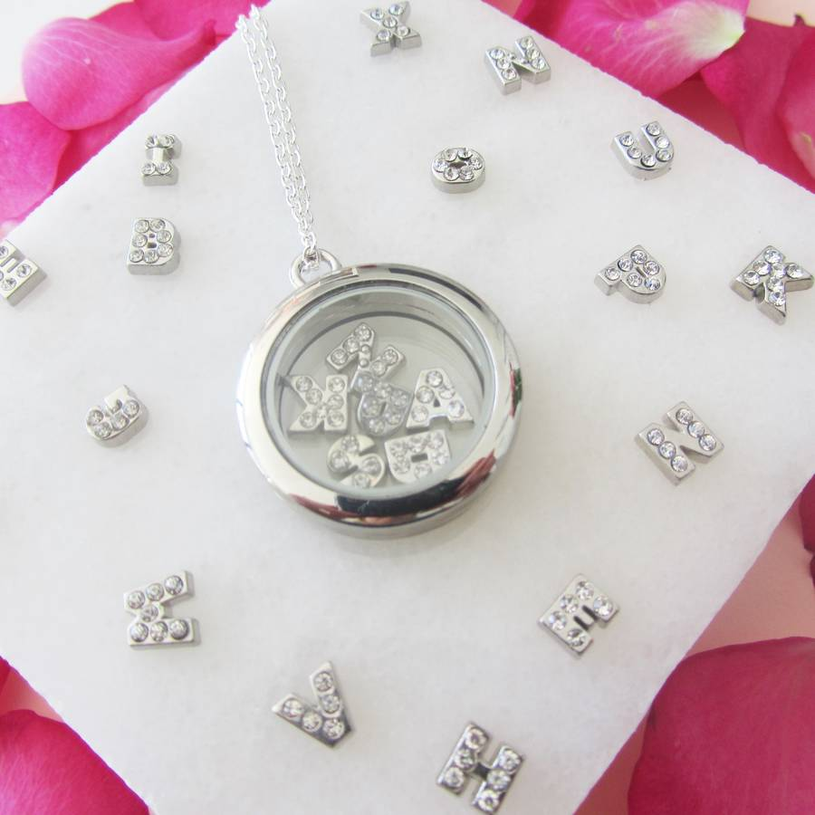 necklace bee silver lockets limetreedesign tree with charm product by lime personalised clear original locket