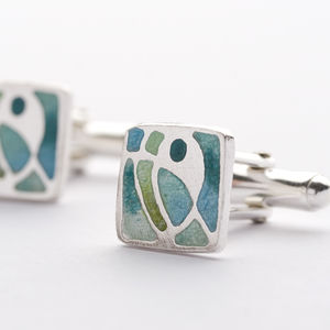 Enamel Cufflinks - men's accessories
