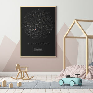 Personalised Night Sky Print 40x50cm - maps & locations