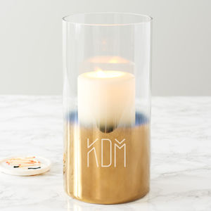 Personalised Initials Gold Ombre Candle Holder - kitchen