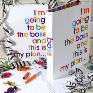 I'm Going To Be The Boss Writing Pad And Folder Set - desk accessories