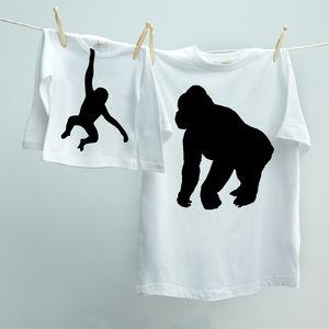 Matching Monkey Dad Child Animal Twinset T Shirts
