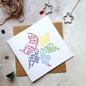 Personalised Yorkshire Snowflake British Christmas Card