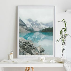 Lake Diving Photographic Poster Print