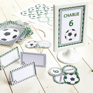 Football Personalised Children's Party Decoration Pack