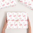 Personalised Flamingo Wrapping Paper