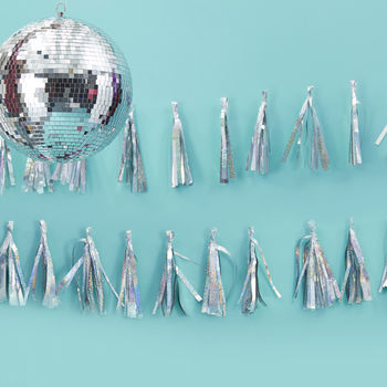 Iridescent Tassel Garland Party Decoration