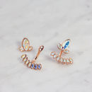Blossom Ear Jacket - Rose Gold & Crystal AB