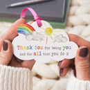 Thank You For Being You Acrylic Cloud Rainbow Keepsake