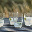 Glass Dimple Tumblers, Set Of Four