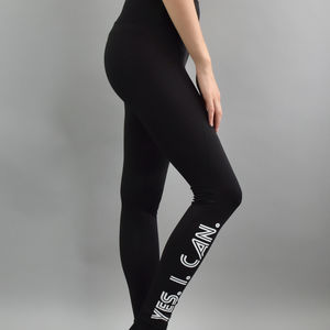 'Yes. I. Can.' Sports Leggings