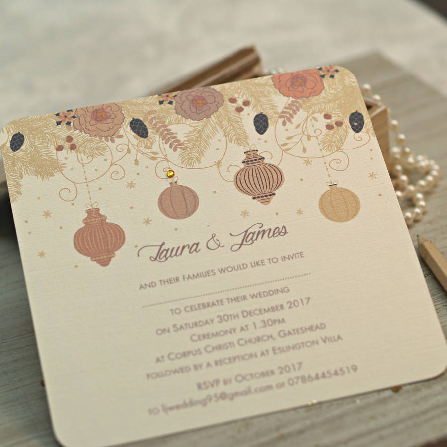 christmas winter wedding invitations by beautiful day ...