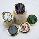 Personalised Monogram Jewelled Compact Mirror
