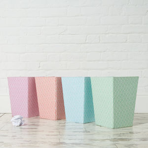 Recycled Pastel Graphic Geometric Waste Paper Bin Large - wastepaper bins