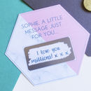 Marble Colour Block Hexagon Secret Message Scratchcard