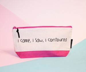 'I Came, I Saw, I Contoured' Brush Bag - make-up bags