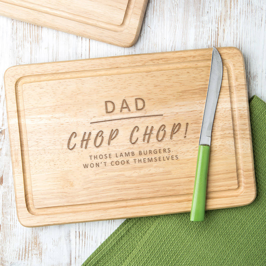 personalised for him cheeky message cutting board by dust