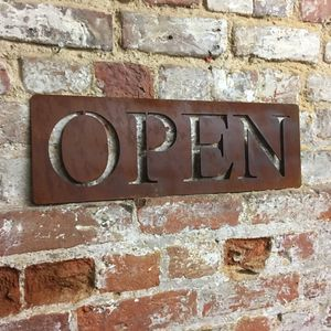 Classic Metal Open Sign - art & decorations