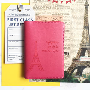 Paris Personalised Passport Cover