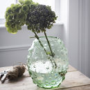 Tall Glass Bubble Vase